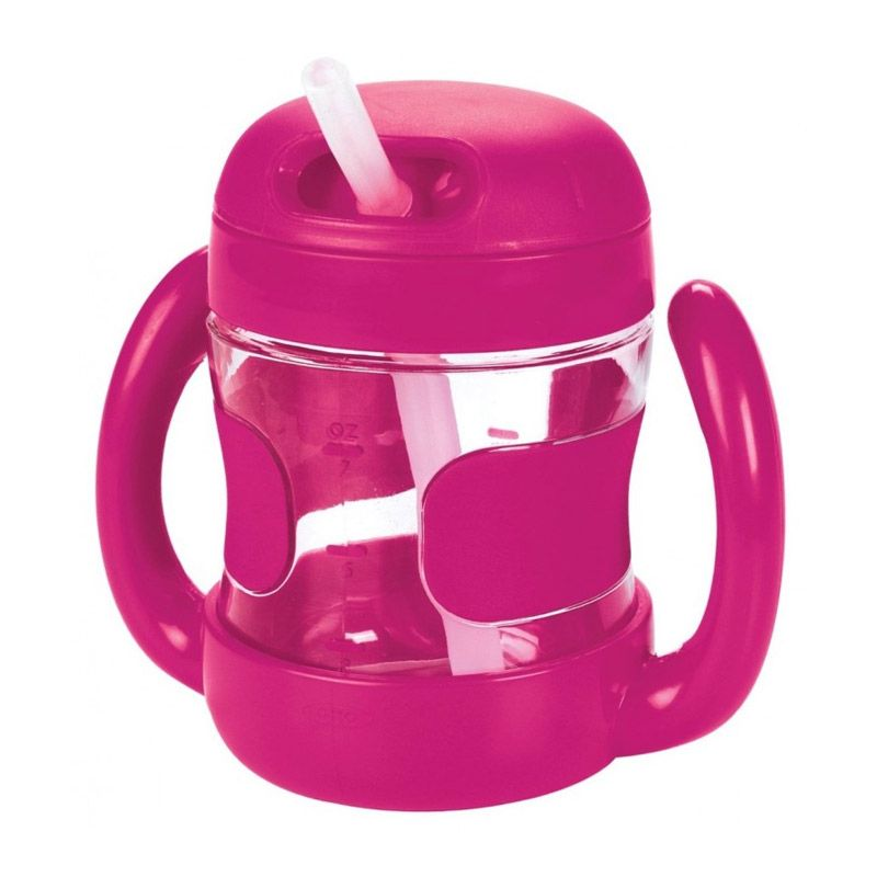OXO Tot Straw Cup with Handles Pink Botol Minum [7oz]